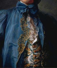 Portrait of a gentleman in a blue coat, by Jean-Marc Nattier (1685 – Paris, 1766).