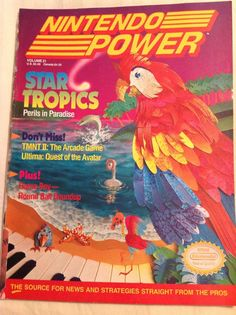 Nintendo Power Magazine Vol 21 February 1991 Star Tropics, Poster, Spine Damage