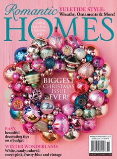 Home Design Magazine: It's time to update your home interior and exterior yourself get ideas for home decoration. Home décor experts tips for bedroom and bathroom. Christmas Ornament Wreath, Vintage Christmas Ornaments, Christmas Wreaths, Christmas Crafts, Christmas Decorations, Xmas, Christmas Stuff, Christmas Ideas, Christmas Cover