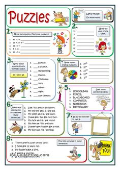 A collection of English ESL worksheets for home learning, online practice, distance learning and English classes to teach about puzzle, puzzle English Games, English Resources, English Activities, English Tips, English Class, English Lessons, Learn English, Grammar Activities, English Teaching Materials
