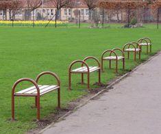 Timber and metal bench