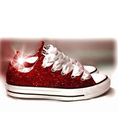 705424a6a2b Shop for Converse All Star Lo Glitter Sneaker in Red at Shi by ...