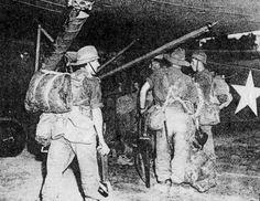 British troops board glider bound for Broadway