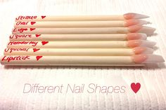 HOW TO: Different Nail Shapes ♥