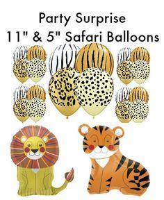 Safari Balloons 11 & 5 latex Safari Jungle Animal by PartySurprise