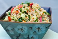 Thai Quinoa Salad with Fresh Herbs and Lime Vinaigrette from Once Upon a Chef