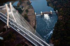 Redzinski bridge, Wroclaw, Poland