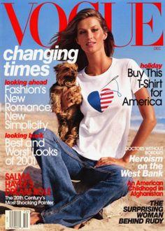 2b71a07656a1c Gisele for Vogue US December 2001 Vogue Brazil, Vogue Magazine Covers, Vogue  Covers,