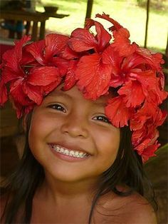 NIÑA GUNA PANAMÁ (KUNA)- GUNA GIRL PANAMA Kids Around The World, We Are The World, People Around The World, Precious Children, Beautiful Children, Beautiful Babies, Beautiful Smile, Life Is Beautiful, Beautiful People