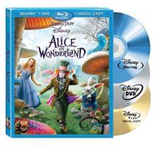 Amazon.com: Alice in Wonderland (Three-Disc Blu-ray/DVD Combo + Digital Copy): Johnny Depp, Mia Wasikowska, Anne Hathaway, Helena Bonham Car...