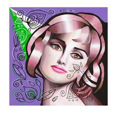 Pink Spotlight canvas giclee print by AlexaAulds on Etsy, £70.00