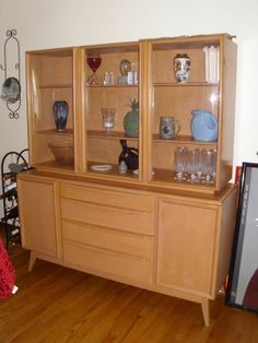 Heywood Wakefield China Cabinet and Buffet. Love to get the ...