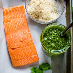 ingredients for easy salmon recipe.