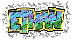Create Names With Bubble Letters | ... Letters ETHAN (2D)? / Graffiti Alphabet | Graffiti Letters | Graffiti