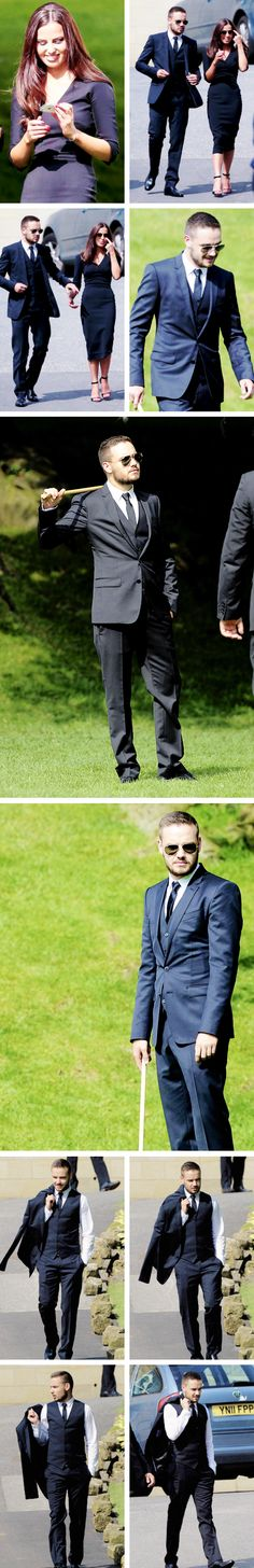 "Liam Payne at Louis' Mom's wedding!  I showed the picture to my dad and he was like ""who is that?  He needs to get rid of the beard."""
