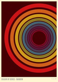 """""""Colour Of Series - Rainbow"""" by Simon C Page on #INPRNT - #graphic design #print #poster #art"""