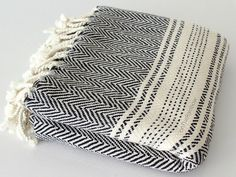 Bohemian Throw Blankets Beige Twin Bed Cover Bedspread Herringbone Cotton Blanket Double Bed
