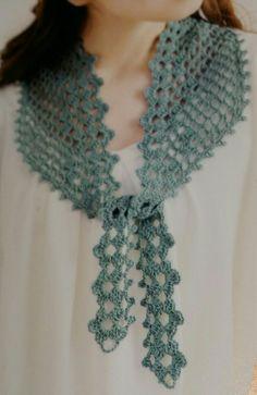 Crochet Scarves, Crochet Shawl, Knit Crochet, Crochet Collar, Crochet Necklace, Crochet Patterns, Embroidery, Knitting, Crafts