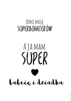 Plakat dla dziadków - Super dziadek i babcia