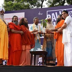 Joined #RallyForRivers at Haridwar with Sadguru  Today.