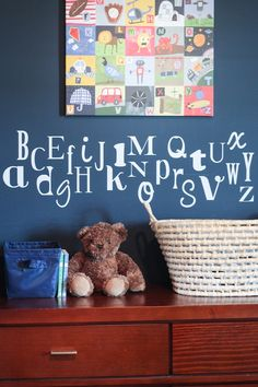 Alphabet Toddler Bedroom from Houseofroseblog.com