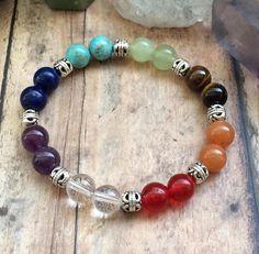 Chakra Bracelet Chakra Crystal Bracelet Yoga Bracelet Mala