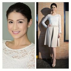 .@apartment8clothing | Happy Lally Carla Abellana in Apartment 8's Midi Semi Circle Skir... | Webstagram - the best Instagram viewer Girl Crushes, White Dress, Celebs, Asian, John Paul, Stars, Cute, Drama, Hair