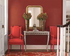 Kolor we wnętrzu // modne kolory ścian // fot. mat.prasowe: http://www.weranda.pl/urzadzamy/sciany/kolory-scian-w-pokoju-sypialni-kuchni-jak-je-dobierac #design #home #colors #walls #inspirations #wall #interriors #ideas #happy #chair #furniture #sofa #red #mirror #kolory #ściany #farba #meble #kolorowe #inspiracje #kolor #malowanie #wnętrza #mieszkanie #remont #inspiracje #pomysły #kanapa #salon #pokój #dom #kolorystyka #porady #diy #czerwony #lustro #зеркало #дизайн #красный #стул #ваза