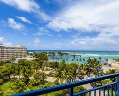 Caribe Hilton Hotel, San Juan, PR - Beach View from Room