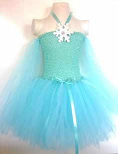 Frozen inspired Queen Elsa Tutu Dress Birthday by ForYouWithLuv, $28.00