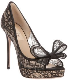 Valentino black lace shoes..I want these