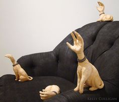 humanAnimalsculpture by kelly colligan