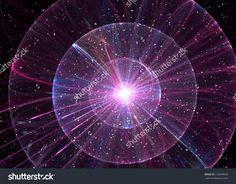 Fractal Sparkling  Flash Ball - Fractal Art