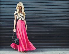 smitten studio // sarah sherman samuel » Blog Archive » my style: fuchsia maxi skirt & geometric top