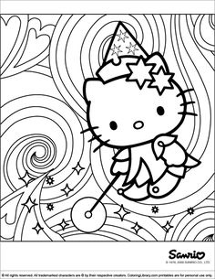 50 Hello Kitty Coloring Pages for children and adults Hello Kitty Drawing, Hello Kitty Art, Hello Kitty Tattoos, Hello Kitty Birthday, Diy Coloring Books, Cute Coloring Pages, Cartoon Coloring Pages, Christmas Coloring Pages, Images Hello Kitty