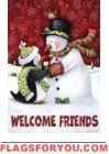 Christmas Winter Welcome Friends Snowman Penguin Garden Flag 12 x 18 Christmas Clipart, Vintage Christmas Cards, Christmas Printables, Christmas Snowman, Christmas Time, Christmas Crafts, Christmas Ornaments, Snowman Clipart, Merry Christmas
