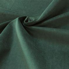 Tissu en velours Milleraies vert Jade - Les Tissus du chien Vert