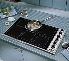 Viking induction cooktop (with actual knobs) Viking Range, Kitchen Appliances, Kitchens, Stove, Vikings, Cooking, Organization, Decor, Houses