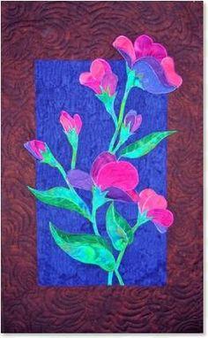 Sweet Pea Coreopsis floralappliqué quilt patterns by Debra Gabel of www.ZebraPatterns. #quilts #applique