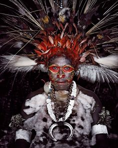 BEFORE THEY PASS AWAY Photography Project by Jim Nelson of the Goroka people.