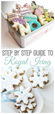 Step by step guide to royal icing - ever wondered how to make the PERFECT iced cookies? Take a look at this practical, hands on guide showing you how to make the perfect royal icing cookies - learn from the experts! Love this Royal Icing Recipe