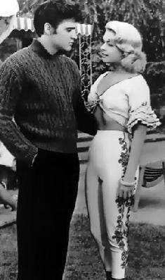 "Elvis and Jennifer Holden ""Jailhouse Rock"" - ""Flippy, real flippy,"" Old Movies, Vintage Movies, Emily Griffith, Prison, Jailhouse Rock, Elvis Presley Photos, 3 Movie, Vintage Pants, Drama Film"