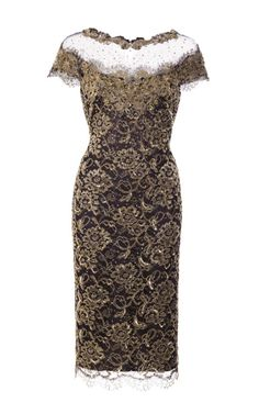 5ec6ab18a8c5c Re-Embroidered Metallic Lace Cocktail Dress