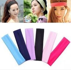 5cm Wide Hairband Girls Womens Kids Sports Elastic Hairband 1.Material Soft  cotton 2 dc8811857dd7