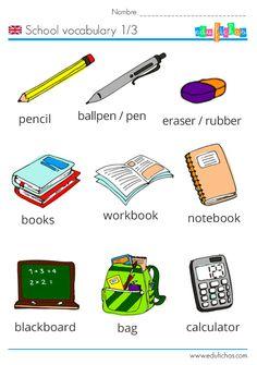 school vocabulary
