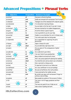 Advanced Prepositions:10 pages with Sample Sentence