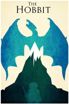 The Hobbit Lord of the Rings retro poster minimalist art movie print LOTR art poster print 11x17 The Hobbit. $19.00, via Etsy.