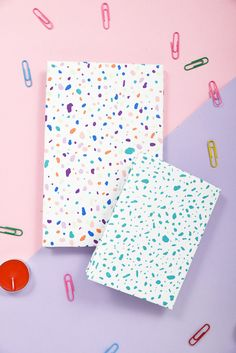 DIY Terrazzo Style Notebooks 2