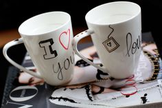 CUSTOMIZED MUGS DIY-perfect for tangling!