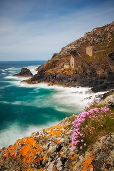 Contrast in colours brightens the image, Cornwall Coast  England
